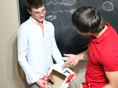 Student gives his cock to his professor as a gift