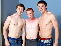 Straights amazing and naughty threesome n blowjob