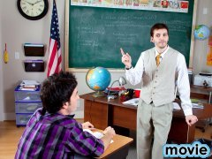 Angry Teach Twinks Teacher dominating young twink!